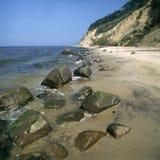 波儿地克的峭壁海岸海运 免版税库存照片