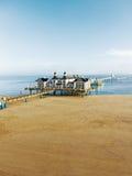 波儿地克的手段海边sellin 库存照片