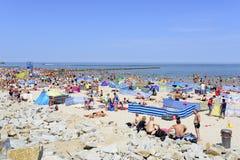 波儿地克的日欧洲niechorze波兰海运夏天 图库摄影