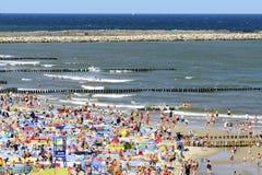 波儿地克的日欧洲niechorze波兰海运夏天 库存照片