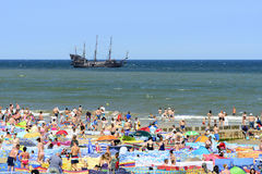 波儿地克的日欧洲niechorze波兰海运夏天 库存图片