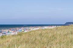 波儿地克的日欧洲niechorze波兰海运夏天 Karwienskie Blota,波兰,欧洲 图库摄影