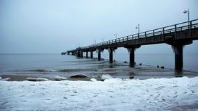 波儿地克的横向海运冬天 免版税库存照片