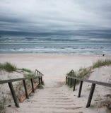 波儿地克的海滩海运 免版税库存图片
