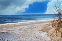 波儿地克的海滩海运 库存图片