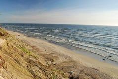 波儿地克的海滩草立陶宛贫寒海运 免版税库存图片