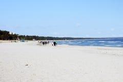 波儿地克的海滩Binz 免版税图库摄影