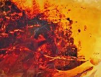 波儿地克的琥珀,树脂段 库存照片