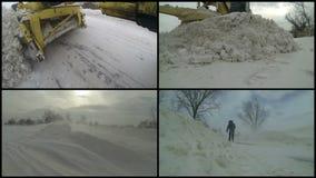 波儿地克的码头俄国风暴冬天zelenogradsk 影视素材