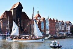 波儿地克的风帆的第22编辑在格但斯克,波兰海湾的  库存照片