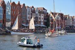 波儿地克的风帆的第22编辑在格但斯克,波兰海湾的  免版税库存图片
