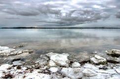 波儿地克的cloudscape海滨 免版税库存图片