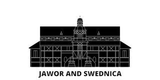 波兰、亚沃尔和希维德尼察,和平平的旅行地平线集合教会  波兰、亚沃尔和希维德尼察,和平教会  皇族释放例证