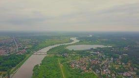 波兰乡下空中射击和河谷环境美化 影视素材