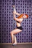 波兰人舞蹈妇女 免版税库存图片
