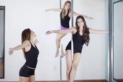 波兰人类的健身学生 免版税图库摄影