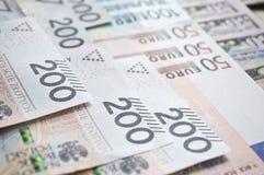 波兰兹罗提、欧元和美元 免版税图库摄影