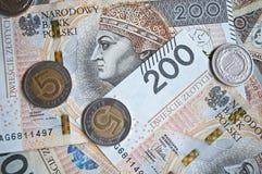 从200波兰兹罗提的背景 免版税库存图片