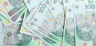 波兰兹罗提钞票当金钱背景 免版税库存照片