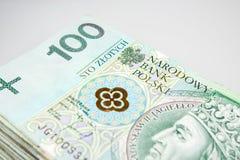 波兰兹罗提货币 库存图片