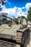 波兰军队博物馆- SU-76M 免版税库存图片