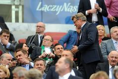 波兰决赛:Legia莱希河 库存照片