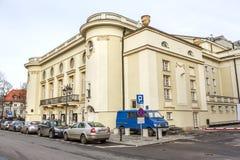 波兰剧院大厦在华沙 图库摄影