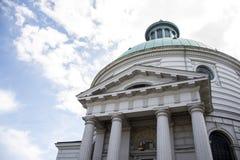 波兰华沙历史建筑文化宫殿塔 免版税图库摄影