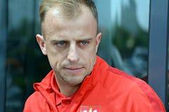 波兰国家橄榄球队Kamil Grosicki的球员 免版税库存照片