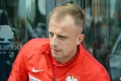 波兰国家橄榄球队Kamil Grosicki的球员 库存照片