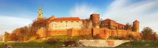 波兰国王的皇家城堡Wawel小山的, Kwakow,波兰 库存图片