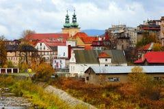 波兰城镇 库存照片