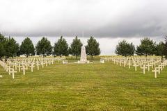 波兰墓地在Champagne-Ardenne 免版税库存照片