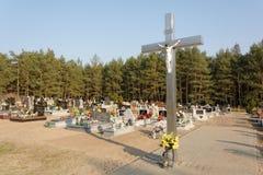 波兰墓地 库存图片
