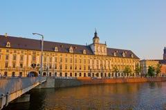 波兰大学wroclaw 库存图片