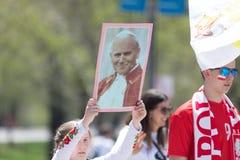 波兰宪法天游行2018年 库存照片