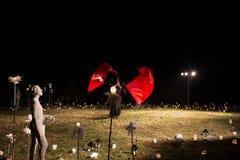 波兰小组。Teatr希脂乳和Teatr在景象的Poza Tym 免版税库存照片