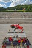 波兰战争公墓在卡西诺,意大利 免版税库存照片