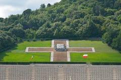 波兰战争公墓在卡西诺,意大利 库存图片