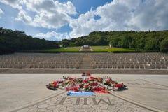 波兰战争公墓在卡西诺,意大利 免版税图库摄影