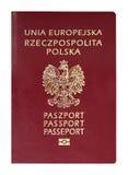 波兰护照 免版税库存照片
