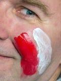 波兰支持者 库存照片