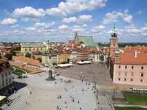 波兰方形华沙 库存照片