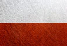 波兰旗子葡萄酒,减速火箭,被抓, 免版税库存图片