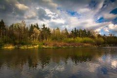 波兰河wisla 库存图片