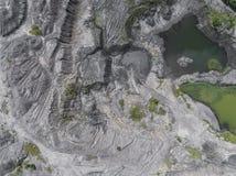 波兰的南部的被贬低的风景老煤矿 被毁坏的l 库存照片