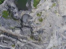 波兰的南部的被贬低的风景老煤矿 被毁坏的l 图库摄影