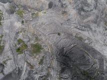 波兰的南部的被贬低的风景老煤矿 被毁坏的l 免版税库存照片