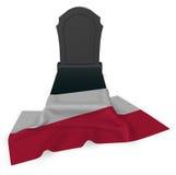 波兰的墓碑和旗子 免版税图库摄影