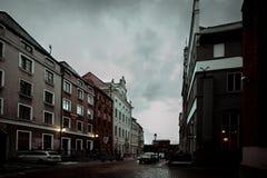 波兰的惊人美丽的冬天  库存照片